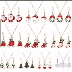 Jewelry - 3 Pc Christmas Necklace and Earring Sets